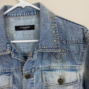 GAZZARRINI UOMO Studded Jean Jacket